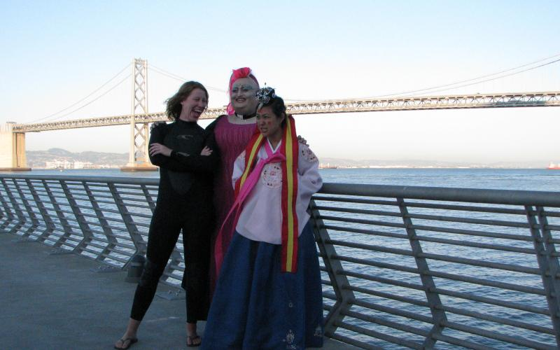 Jenny, Rev. Faye and Me at Pier 1