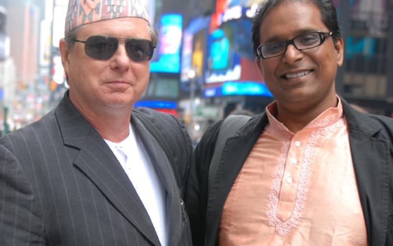 Best Man, Bob Holman & Groom, Ram Devineni